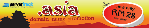 Domain Name Promo ( .asia at only RM 28)