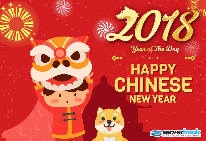 Happy Chinese New Year 2018 : Year of the Dog