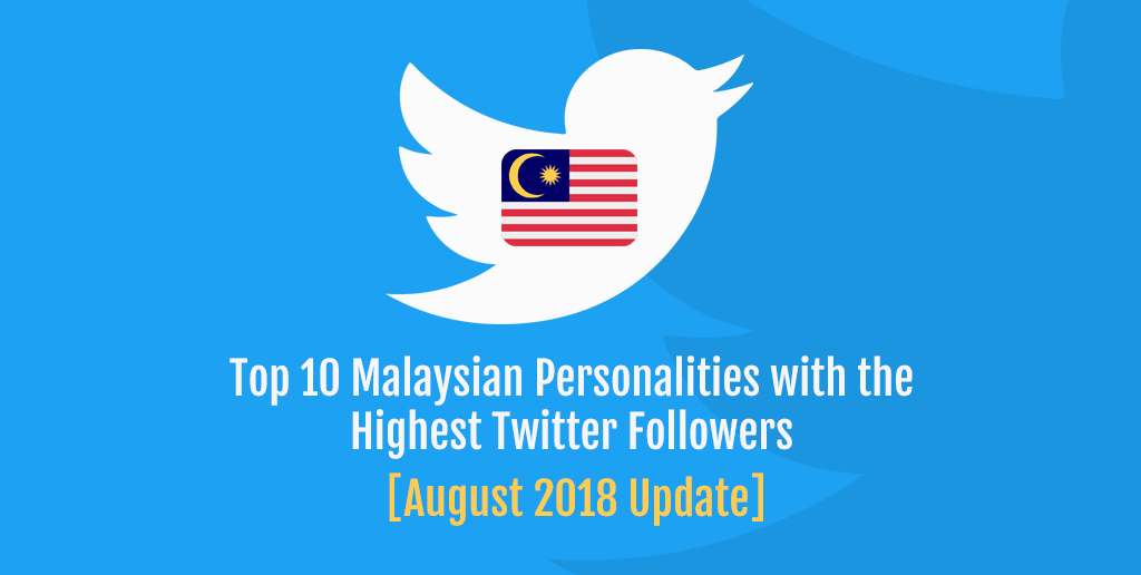 Top 10 Malaysian Personalities with the Highest Twitter Followers