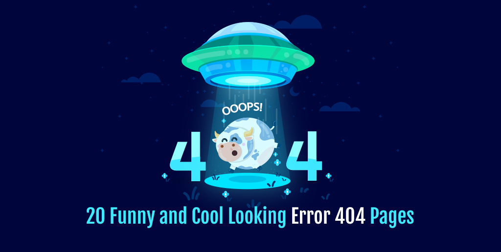 20 Funny and Cool Looking Error 404 Pages