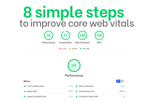 8 simple steps to improve core web vitals